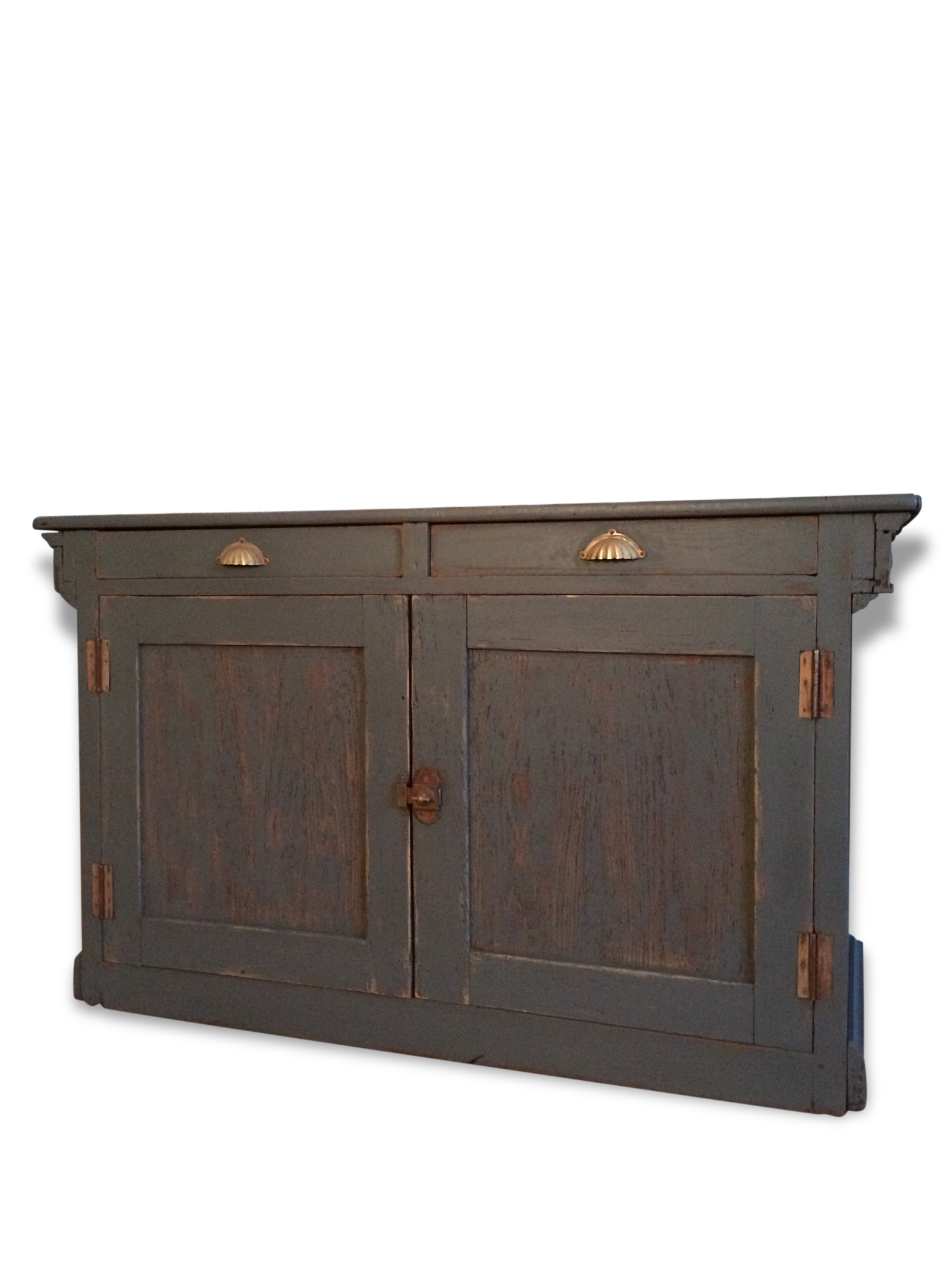 Buffet meuble ancien good repeindre un buffet en chene - Meuble ancien patine gris ...