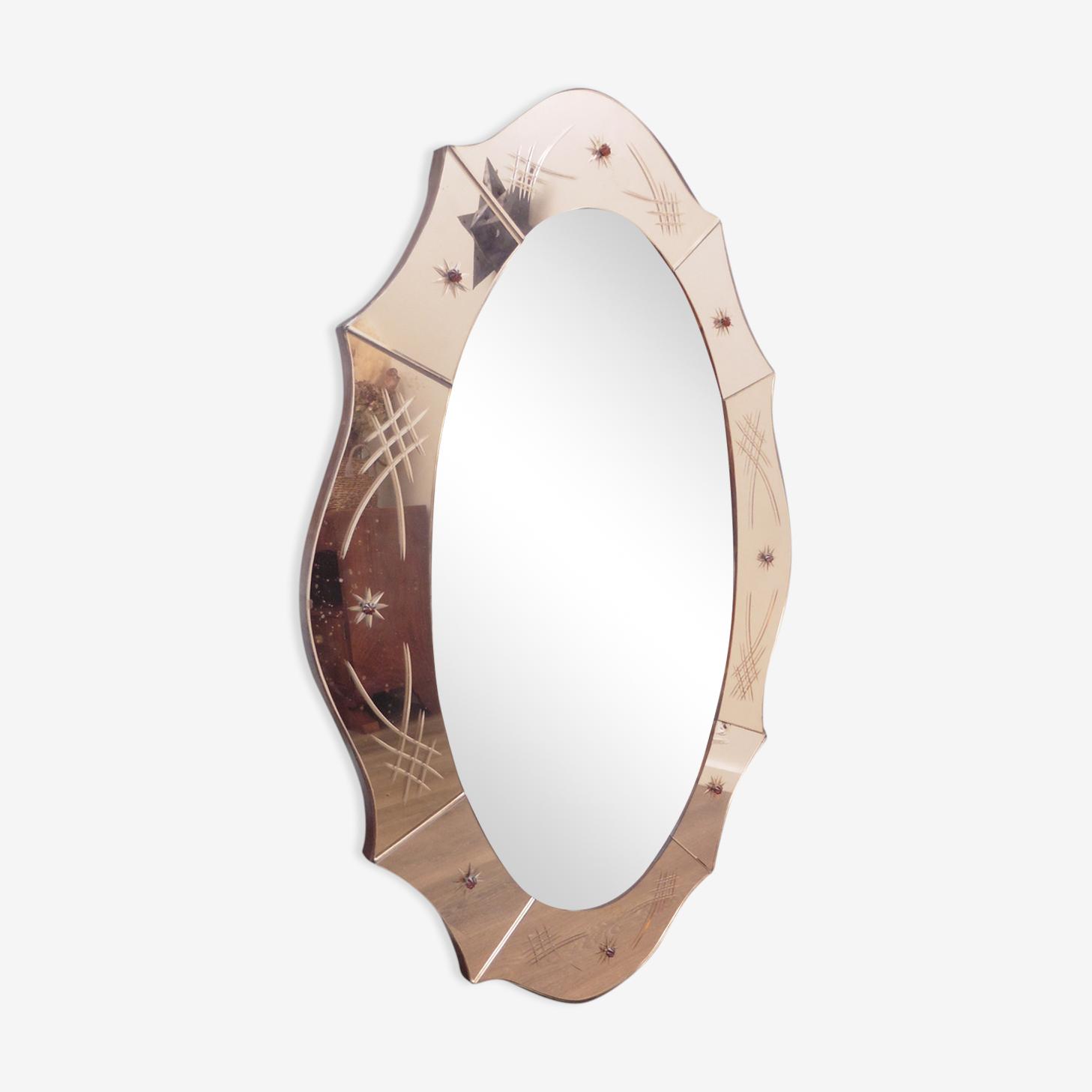 Venetian mirror pink 96 x 82 cm