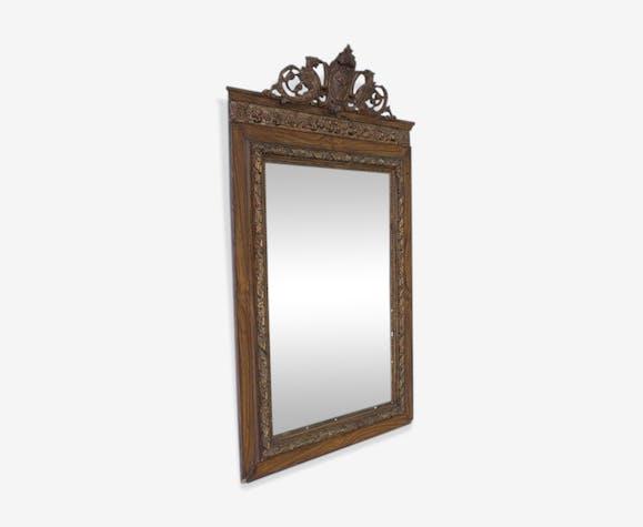Miroir rectangulaire a décor de blason 71x132cm
