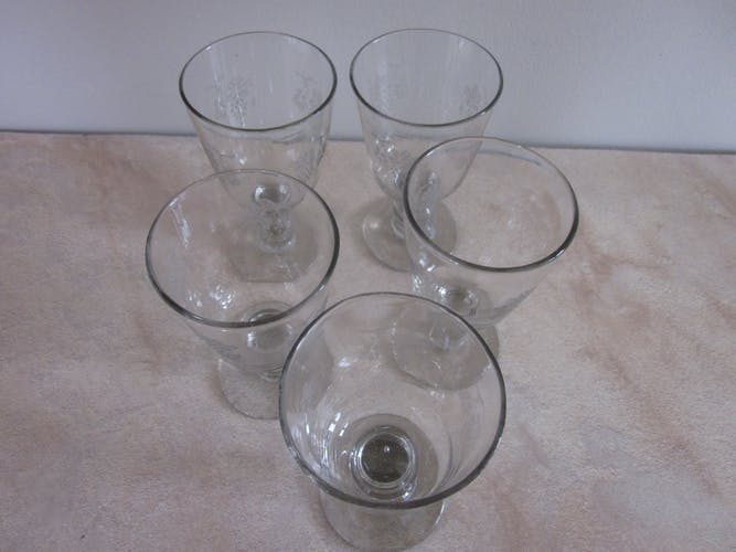 5 verres bistrot des années 30