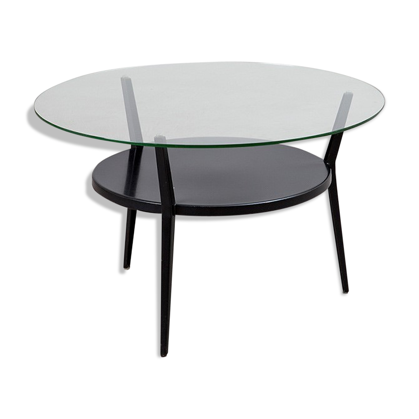 Meuble Salle De Bain Imandra Brico Depot ~ Table Basse Friso Kramer Verre Et Cristal Transparent Vintage