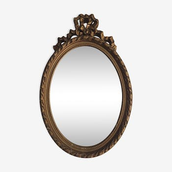 Gold wood mirror