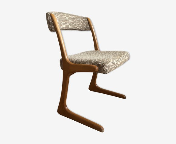Clair Bois Lainecoton Scandinave Laine Chaise 1960 Et Beige rCoxdBeW