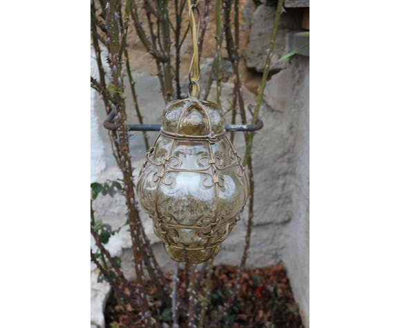 Lustre verre soufflé Murano