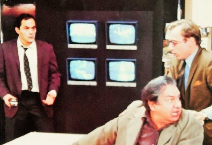 """Affiche cinématographique de """" M.Galabru & J.P.Bacri """" de 1985"""