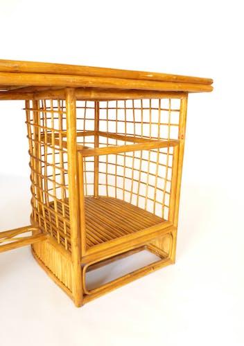 Rattan desk 1950