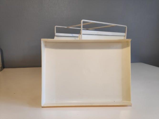 organiseur de bureau range courrier vintage métal et plastique