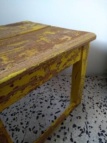 Petite table d'appoint chevet d'atelier vintage