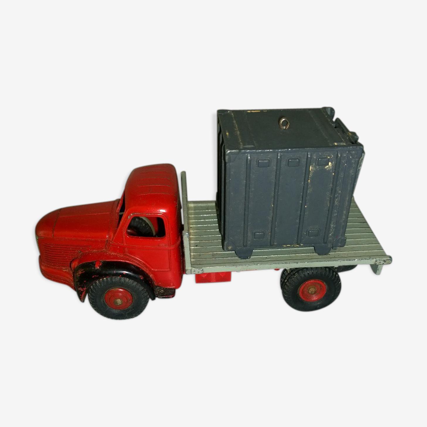 Miniature Dinky toys 34b du Plateau Berliet avec container