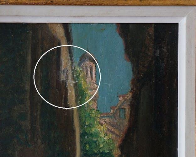 "Peinture ""La ruelle"""