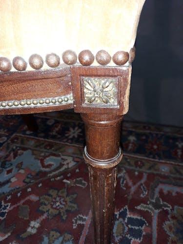 Trois chaises en acajou style Louis XVI