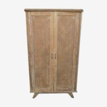 Cabinet feet compass 2 doors wooden gross vintage