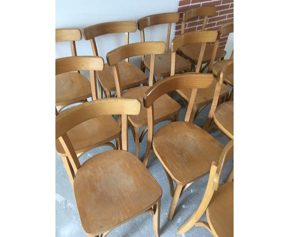 suite of 14 bistro chairs