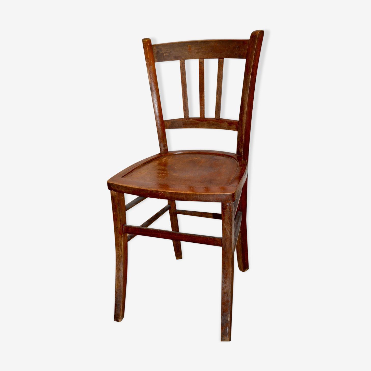 Chaise de bistrot bois foncé