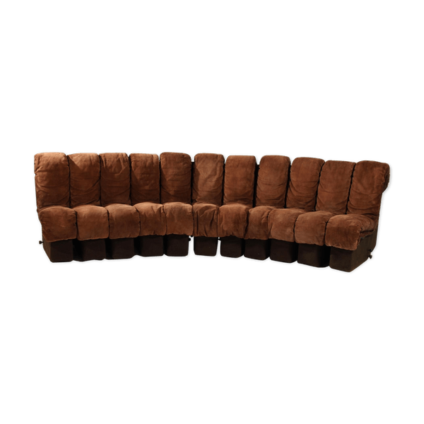 Ds 600 Non Stop Modular Sofa Brown Leather By Berger Ulrich And Vogt For De Sede 1970 S Leather Brown Good Condition Design In08vsw