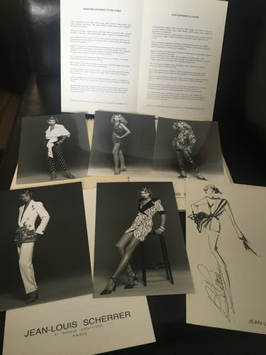 Jean-Louis Scherrer: fashion illustration - vintage press photo