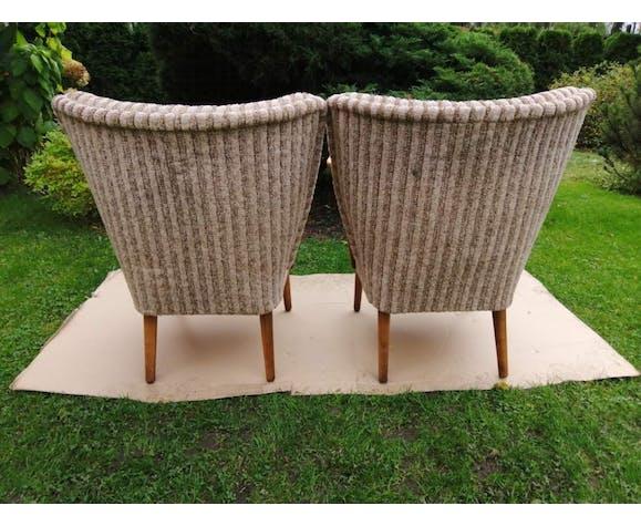 Paire de fauteuils cocktail vintage années 1960 / 1970