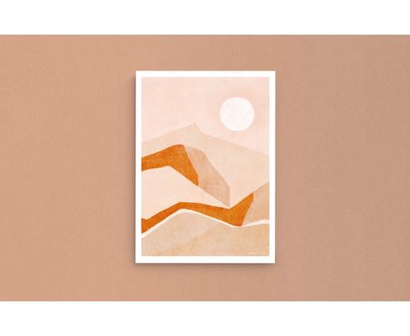 """Oeuvre """"vue du désert"""" a3"""