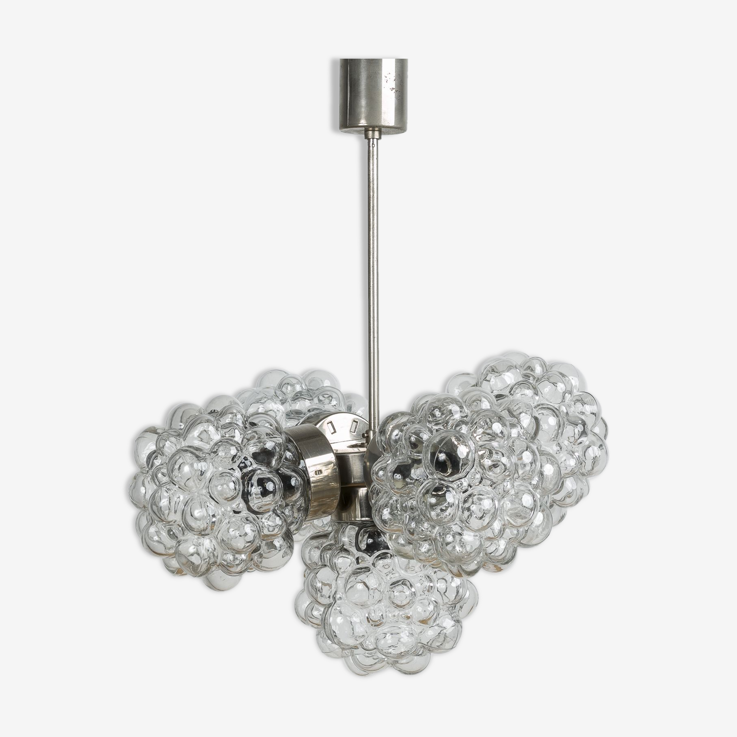 Bubble glass chandelier, 70's