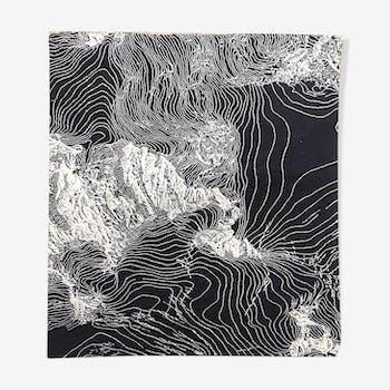 Design carpet of the 1980s 170 x 230 cm