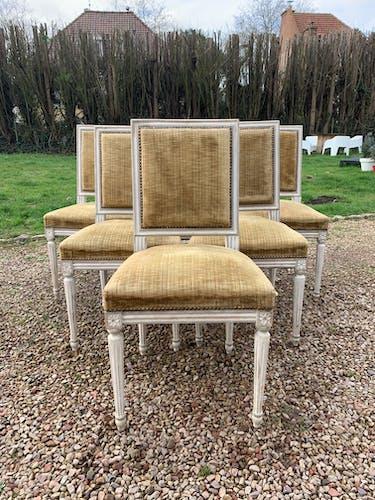 Serie de 6 chaises style Louis XVI