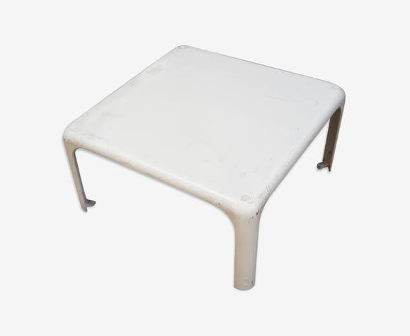Table basse blanche années 70
