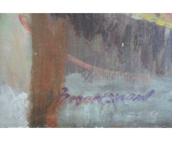 Large oil by Woodshaw 73/45 oil on wood panel
