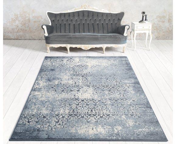 Tapis bleu vintage 2x3 m