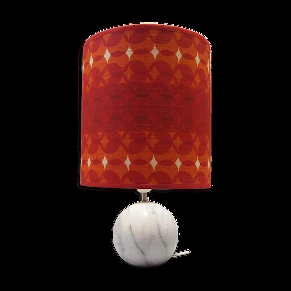 Lampe de bureau avec socle en marbre 1970s