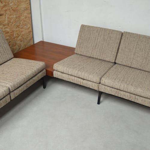 Corner lounge with 3-seater sofa, 2-seater sofa and corner table