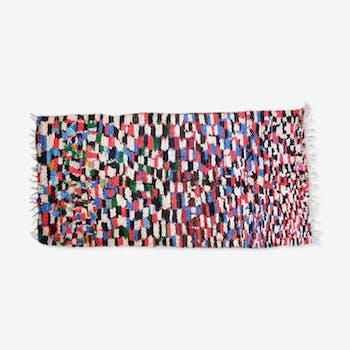 Carpet Berber azilal vintage colorful Morocco 275x135cm