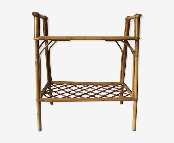 Petite table en rotin vintage - rotin et osier - beige - vintage ...