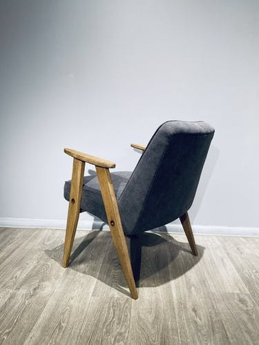 Fauteuil vintage conçu par J.Chierowski, Modèle 366 1960
