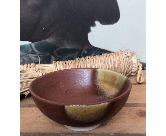 Trio bols style céramique terre marron