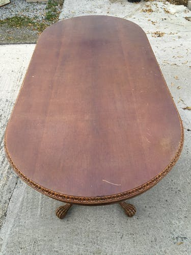 Chippendale oval castle table