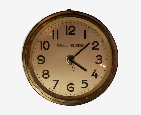 Horloge ronde Charvet-Delorme