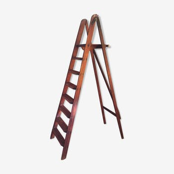 Stepladder 7 vintage wooden steps