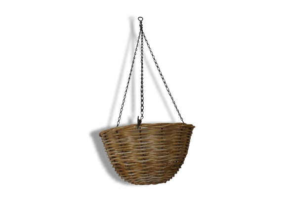 Plante 70 Cm Of Suspension Porte Plante Osier Chainettes Metal 64 Cm