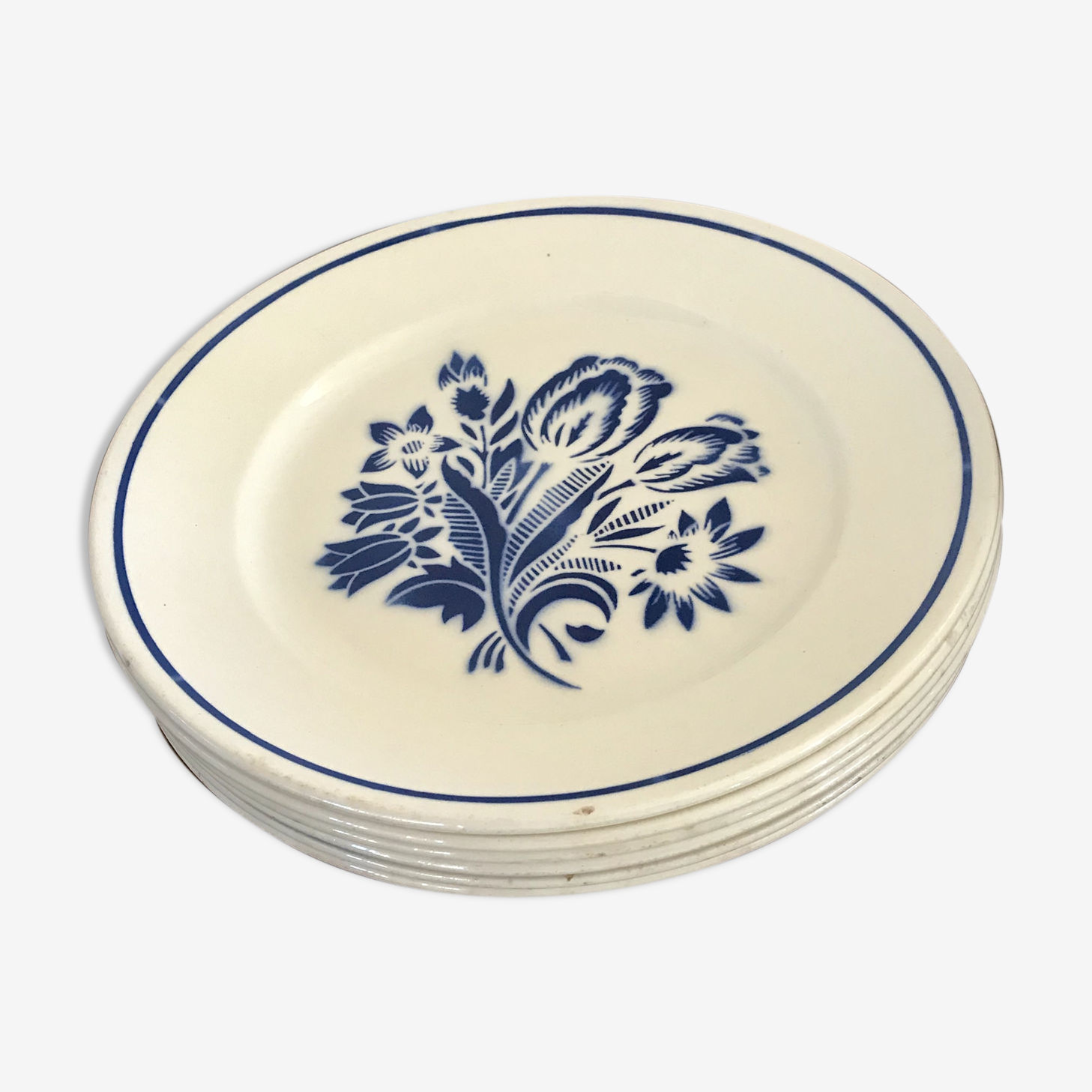 Suites of 6 plates and Bowl Badonviller