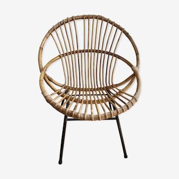 1950 rattan armchair