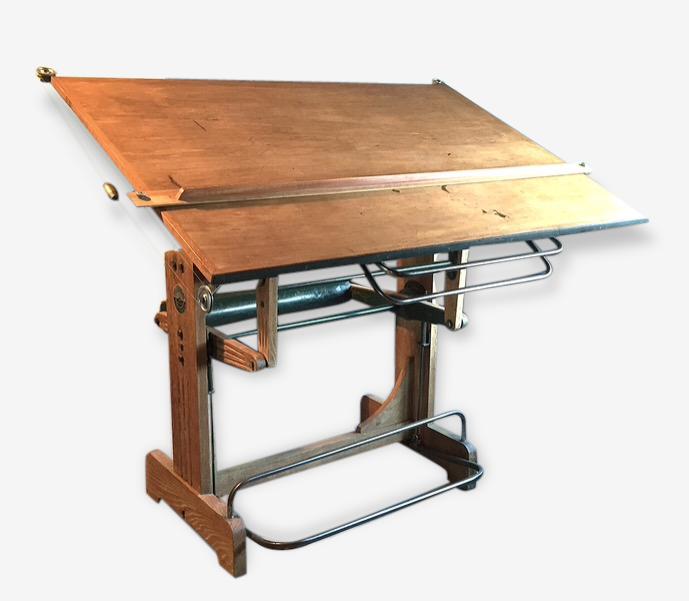 Table D Architecte En Bois table d'architecte heliolithe vintage rare - bois (matériau