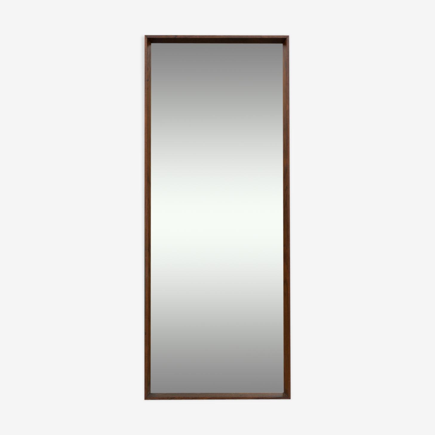 Miroir en palissandre danois 37x90cm