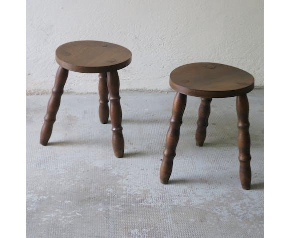 Pair of tripod stools