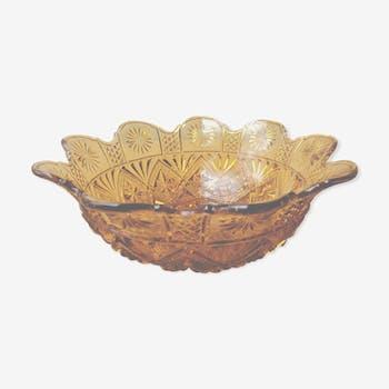 Chiseled amber bowl