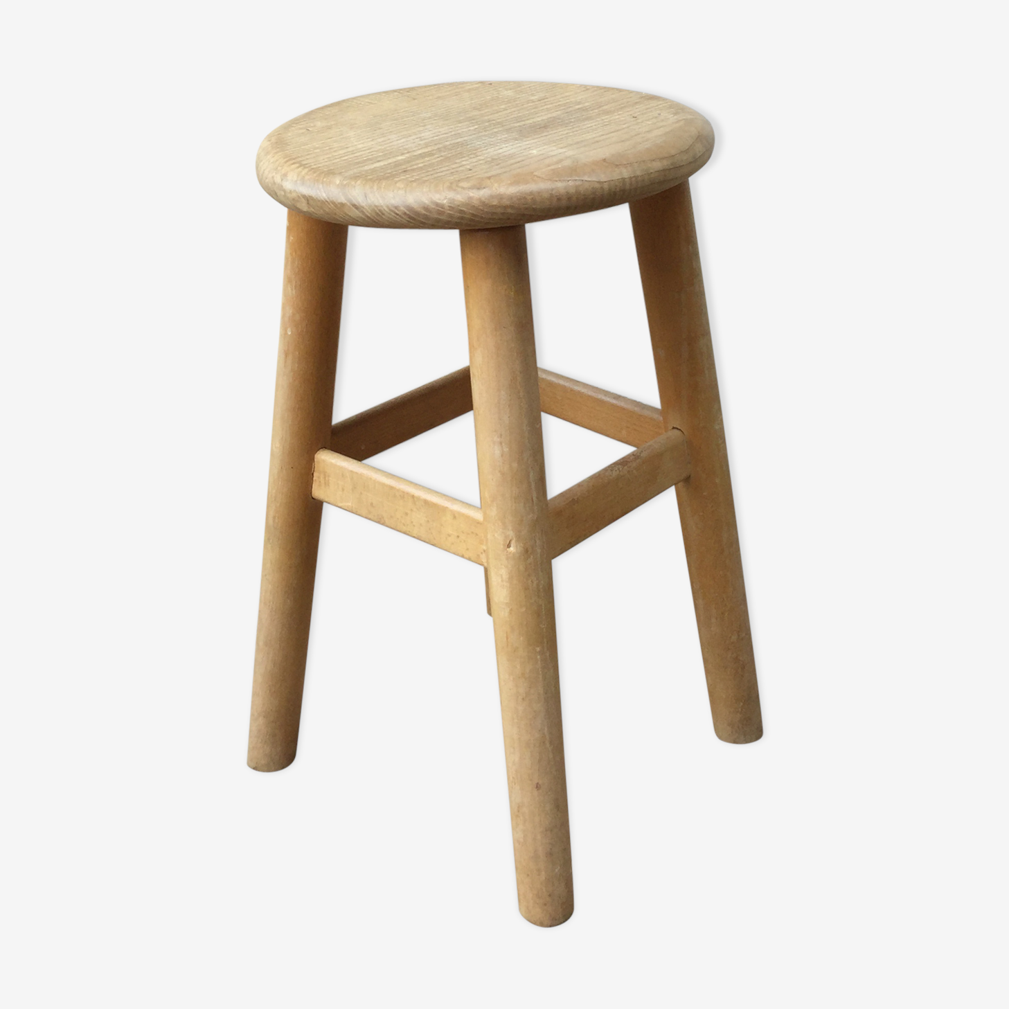 Stool wooden Scandinavian vintage from the 60s