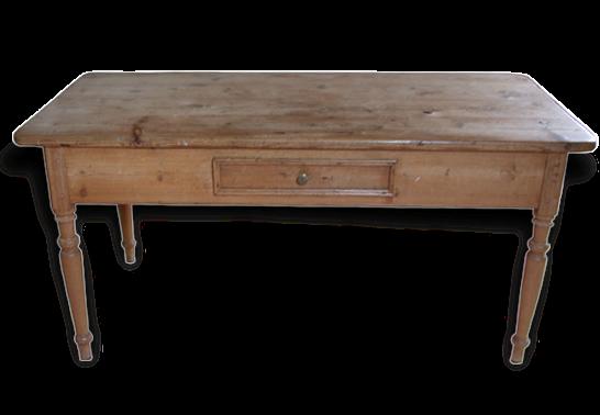 table campagnarde anglaise antiquité en pin - bois (matériau