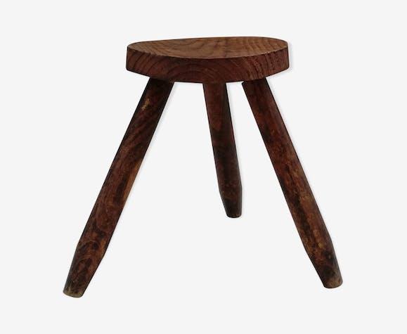 Wooden tripod stool