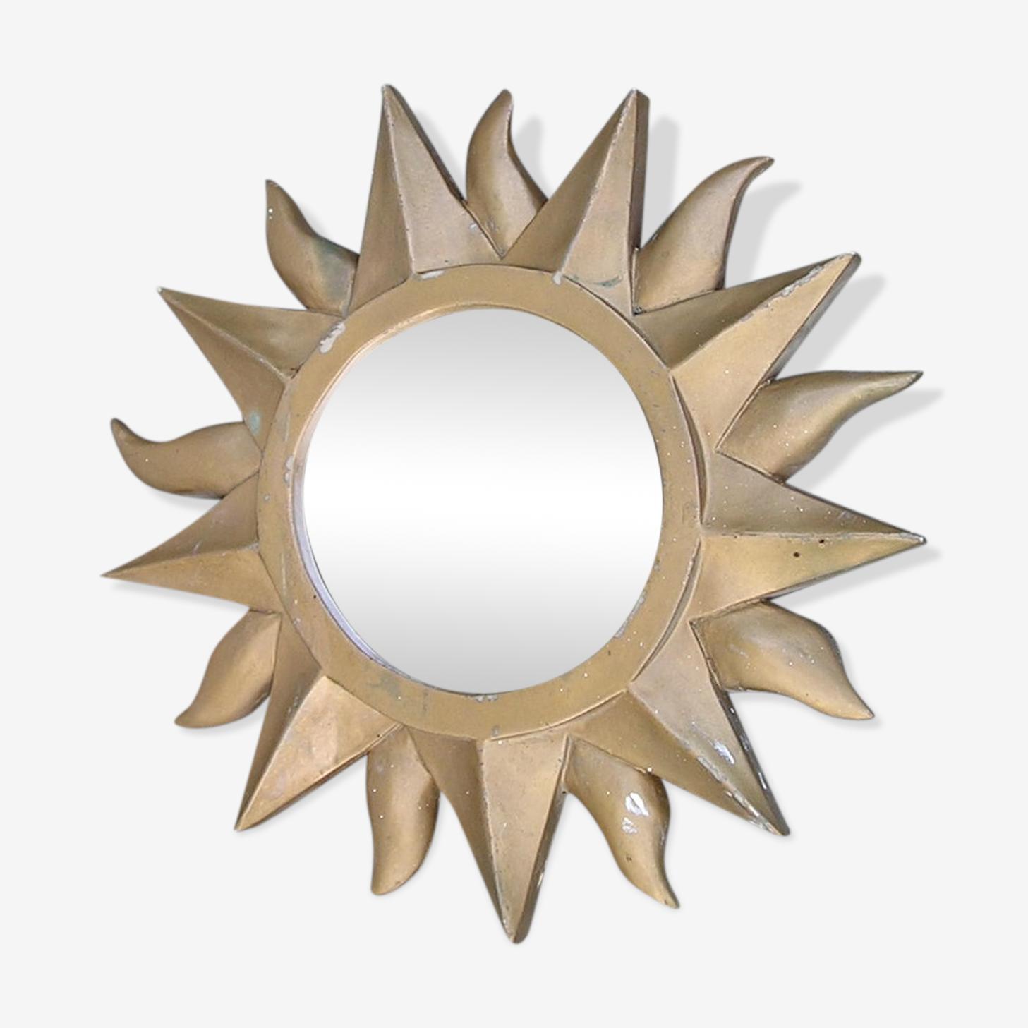 Miroir soleil en résine des années 70