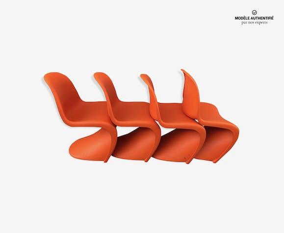 Lot de 4 chaises par Verner Panton pour Vitra
