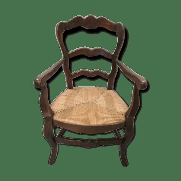 fauteuil proven al paill bois mat riau bois couleur classique bkwea6b. Black Bedroom Furniture Sets. Home Design Ideas